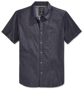 GUESS Mens Slim Fit Denim Button Up Shirt Black XL