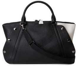 Akris Aimee Bicolor Small Leather Tote