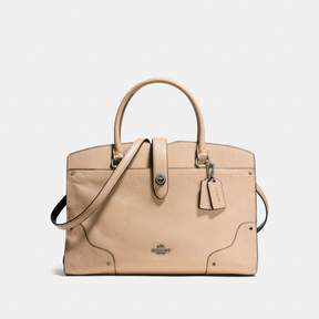 COACH Coach New YorkCoach Mercer Satchel In Colorblock - BEECHWOOD/BLACK/DARK GUNMETAL - STYLE