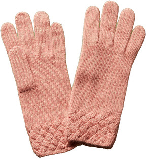 Portolano Women's Pink Wool-Blend Gloves