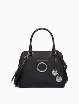 Calvin Klein leather circular hardware satchel