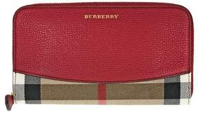 Burberry House Check Sartorial Leather Wallet - Military Red - RUSSET RED - STYLE