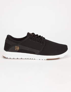 Etnies Scout Black, White & Gum Mens Shoes