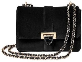 Aspinal of London Small Lottie Bag In Black Velvet