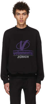 Vetements Black Zurich Sweatshirt