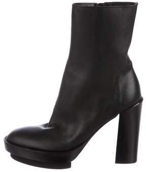 Ann Demeulemeester Leather Platform Boots
