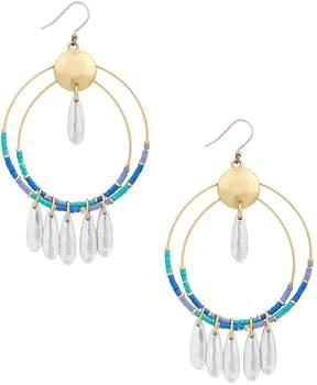 Lucky Brand Beaded Hoop Earrings