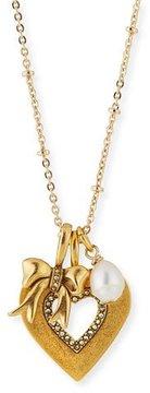 Sequin Heart Talisman Pendant Necklace