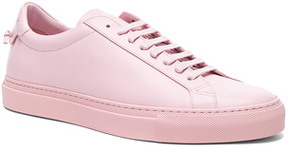 Givenchy Leather Urban Tie Knot Sneakers in Pink.
