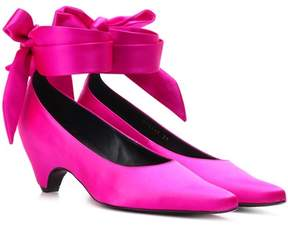 Stella McCartney Bow-Tied satin pumps