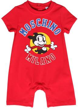 Moschino Printed Cotton Jersey Romper