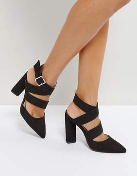 Qupid Strappy Point High Heels