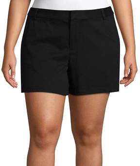 Boutique + + 5 Twill Shorts - Plus