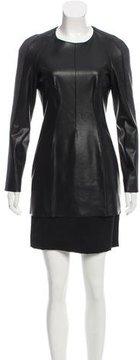 Cédric Charlier Vegan Leather Mini Dress
