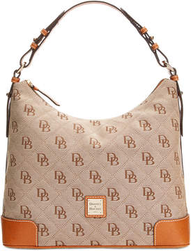 Dooney & Bourke Americana Signature Erica Hobo, Created for Macy's - APRICOT/MARINE - STYLE