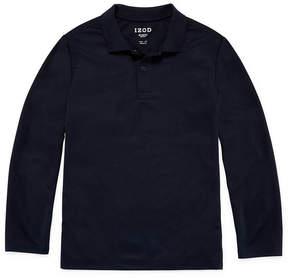 Izod EXCLUSIVE Exclusive Long Sleeve Knit Polo Shirt - Big Kid Boys