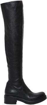 Strategia 30mm Stretch Leather Over The Knee Boots