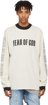 Fear Of God Beige Long Sleeve Mesh Motorcross T-Shirt