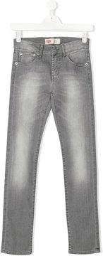 Levi's Kids stonewashed slim-fit jeans
