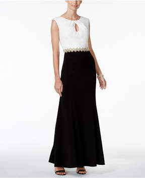 Alex Evenings Colorblocked Evening Gown