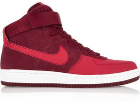 Nike Air Force 1 Ultra Force Mid Suede And Leather Sneakers