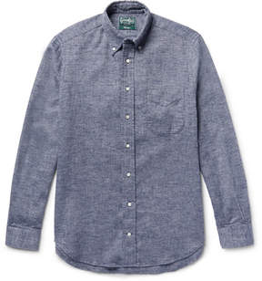 Gitman Brothers Slim-Fit Button-Down Collar Cotton-Flannel Shirt