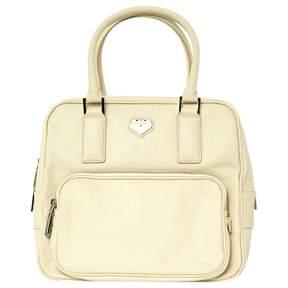 Hogan Ecru Leather Handbag