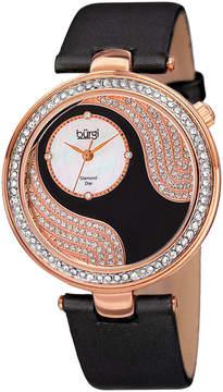 Burgi Unisex Black Strap Watch-B-155bkr
