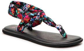 Sanuk Women's Yoga Ella Floral Print Flat Sandal