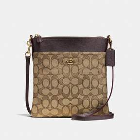 COACH COACH MESSENGER CROSSBODY IN SIGNATURE JACQUARD - KHAKI/BROWN/LIGHT GOLD