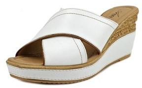 Azura Vampiano Women Open Toe Leather Wedge Sandal.