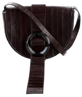 Calvin Klein Collection Eel Skin Saddle Bag