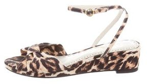 Alice + Olivia Leopard Wedge Sandals