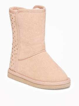 Old Navy Printed Sueded Adoraboots for Toddler Girls