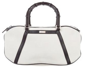 Gucci Suede Bamboo Top Handle Bag - NEUTRALS - STYLE