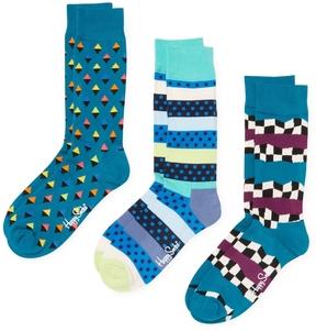 Happy Socks Men's Geometric Socks (3 PK) - Size 10-13