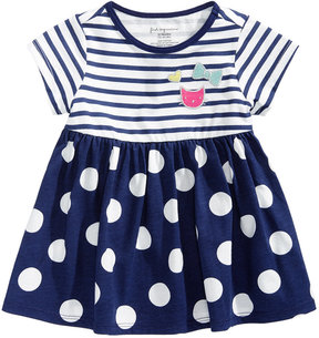 First Impressions Stripes & Dots Tunic, Baby Girls (0-24 months), Created for Macy's