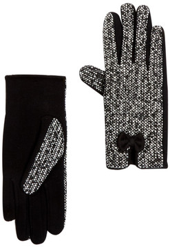 Joe Fresh Contrast Bow Tweed Gloves