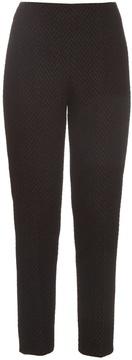 Emilia Wickstead Arabella chevron-matelassé trousers