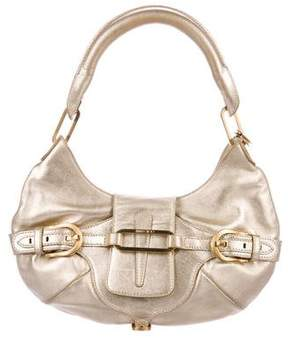 Jimmy Choo Small Metallic Tulita Hobo