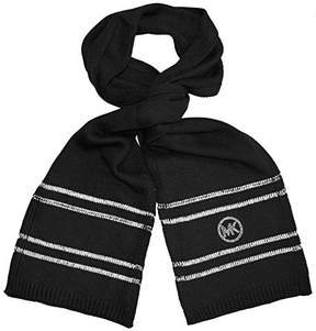 Michael Kors Fashion Knit Scarf Neck Warmer Womens Black