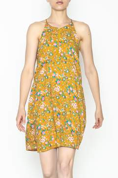 Everly Yellow Floral Shift Dress