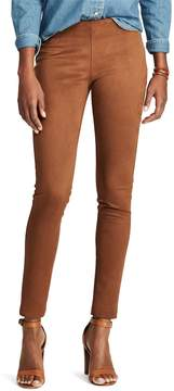 Chaps Women's Faux-Suede Skinny Pant