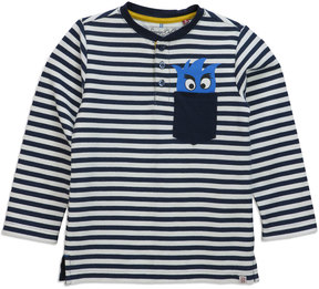 Sovereign Code Dreamer Striped Monster Tee, Navy, Size 12-24 Months