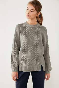BDG Cable Knit Balloon Sleeve Sweater