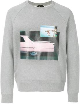 No.21 photo print sweatshirt