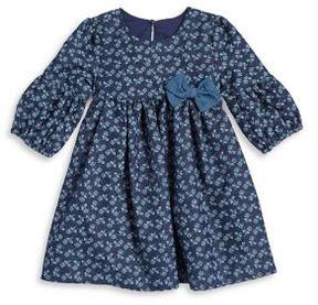 Laura Ashley Little Girl's Denim Shift Dress