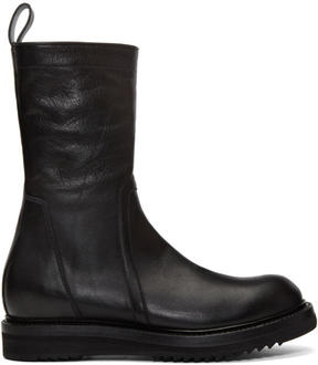 Rick Owens Black Creeper Lace-Up Boots
