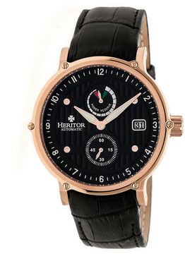 Heritor Leopold Mens Black Strap Watch-Herhr4707