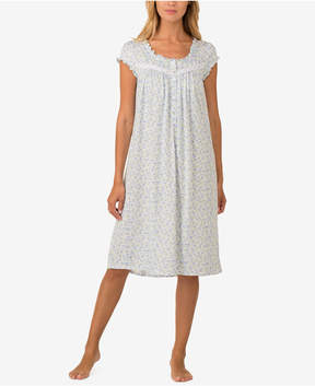 Eileen West Printed Knit Waltz-Length Nightgown